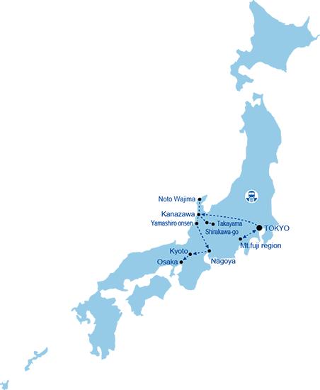 Day Quilters Japan Autumn Tour Japan Quilt Tours - Japan map 2017